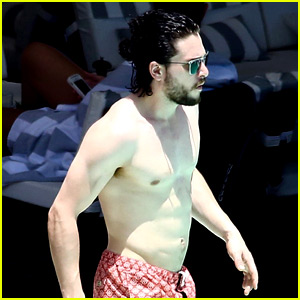 Kit Harington Goes Shirtless, Bares Ripped Body Again in Rio