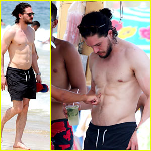 Kit Harington Lets People Touch His Ripped Abs in Rio!