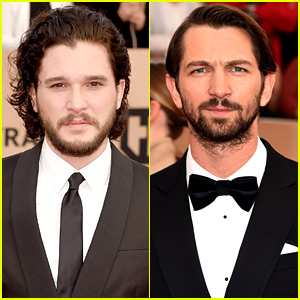 Kit Harington & Michiel Huisman Suit Up for SAG Awards 2016