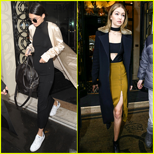 Kendall Jenner & Gigi Hadid Have a Kengi Reunion in Paris!