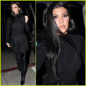 Kourtney Kardashian Kicks Off the Weekend With a Girls Night