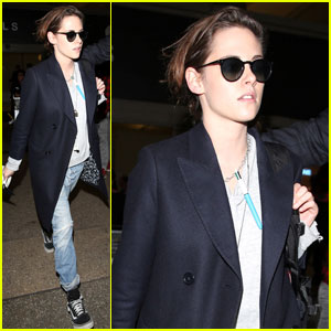 Kristen Stewart Makes a Mid-Week Landing Back in L.A.