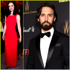 Krysten Ritter Celebrates the Golden Globes 2016 with Netflix!