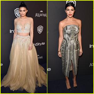 Kylie Jenner Is Kourtney Kardashian's 'Hot Date' For Golden Globes After Party