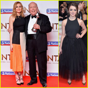 Laura Carmichael & Maisie Williams Step Out for National Television Awards 2016 in London