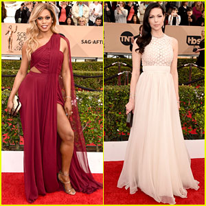 Laverne Cox & Laura Prepon Wow at SAG Awards 2016!