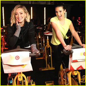 Hilary Duff & Lea Michele Take SoulCycle Class Together At Target Event