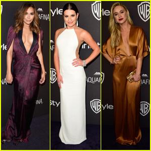 Naya Rivera Has 'Glee'ful Reunion at Golden Globes With Lea Michele & Becca Tobin
