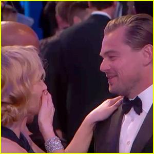 Leonardo DiCaprio & Kate Winslet Reunited at Golden Globes 2016! (Video)