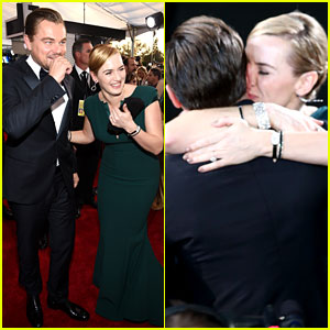 Leonardo DiCaprio & Kate Winslet Shared the Best Hug After His SAG Awards Win!