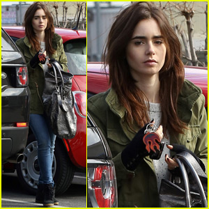 Lily Collins Has a Romantic Sunday With Halston Sage