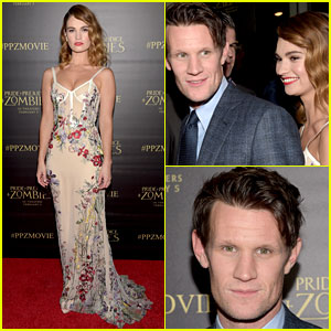 Lily James & Matt Smith Premiere 'Pride & Prejudice & Zombies' in Los Angeles!