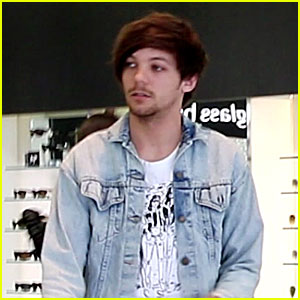 Louis Tomlinson Shops for Sunglasses After Birth of His Son
