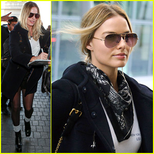 Margot Robbie Flies to London After Amazing 'Suicide Squad' Trailer Debut!
