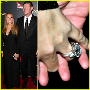 Mariah Carey Flaunts Engagement Ring on Red Carpet with Fiance James Packer!