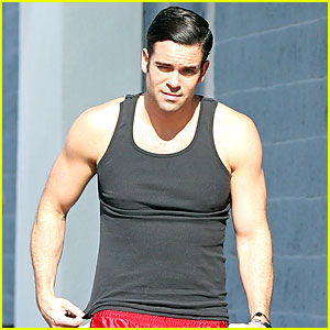 Mark Salling Appears in Good Spirits After His Workout