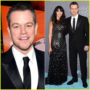 Matt Damon Brings His Wife Luciana to Critics' Choice Awards 2016