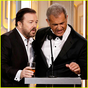 Mel Gibson & Ricky Gervais at Golden Globes 2016 - Full Video