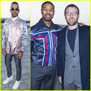 Michael B. Jordan Hits Paris For His First Fashion Show with Joel Edgerton!
