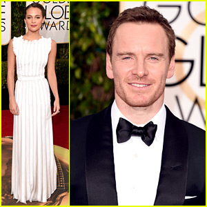 Michael Fassbender Is Sitting with Girlfriend Alicia Vikander at Golden Globes 2016!