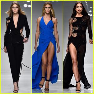 Gigi Hadid & Irina Shayk Slay the Versace Runway During Paris Fashion Week