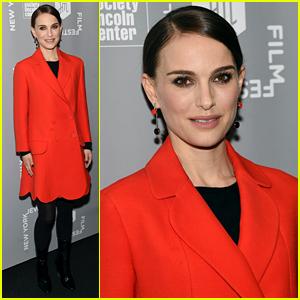 Natalie Portman Stuns in Red at the New York Jewish Film Festival