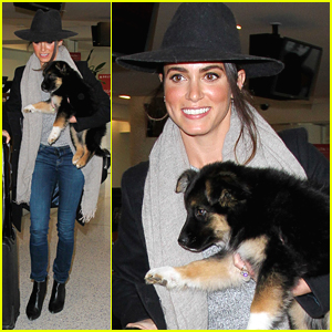 Nikki Reed Takes Foster Puppy To Her New Family