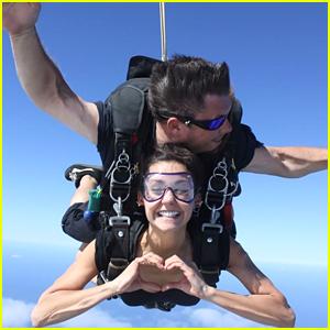 Nina Dobrev Skydives Into 2016 - Watch The Vid!