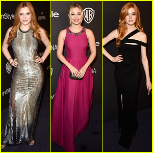 Bella Thorne Stuns At Golden Globes After Party with Katherine McNamara