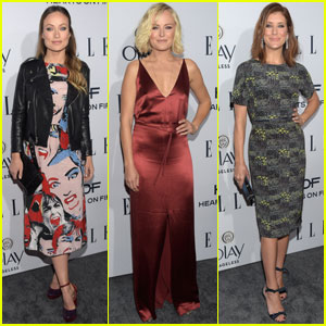 Olivia Wilde & Malin Akerman Attend Elle's Women in TV Dinner