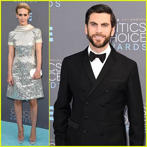 Sarah Paulson & Wes Bentley Attend Critics' Choice Awards 2016 After 'AHS: Hotel' Finale