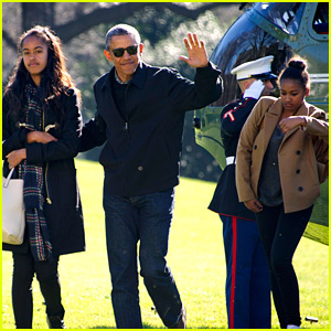 President Obama & Family Arrive Home from Holiday Vacation