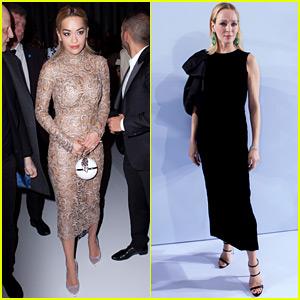 Rita Ora Goes Sexy Sheer in Skin Tight Dress for Paris Fashion Week
