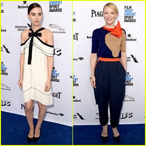 Rooney Mara & Cate Blanchett Attend Film Independent Spirit Awards Brunch