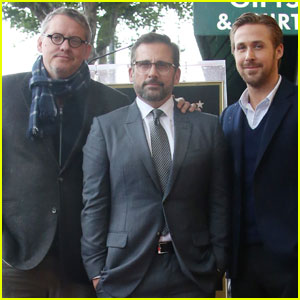 Ryan Gosling Supports Steve Carell at Walk of Fame Ceremony