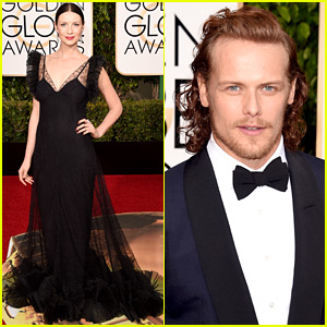 Outlander's Caitriona Balfe & Sam Heughan Are All Ready for Golden Globes 2016