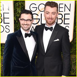 Sam Smith & Producer Jimmy Napes Arrive At Golden Globes 2016