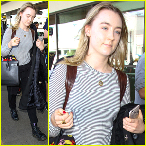 Saoirse Ronan Arrives at LAX Ahead of SAG Awards This Weekend