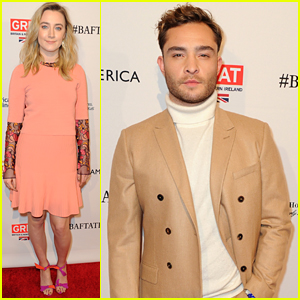 Saoirse Ronan & Ed Westwick Step Out For BAFTA's Los Angeles Awards Season Tea