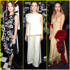 Lily James & Suki Waterhouse Celebrate the Golden Globes with Dom Perignon/W