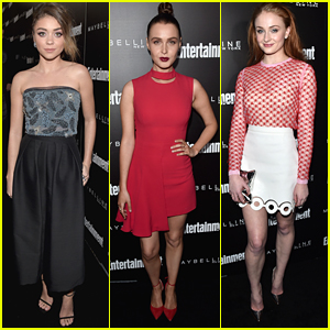Sarah Hyland & Sophie Turner Step Out For EW's Pre-SAG Party