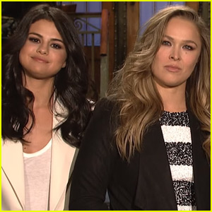 Ronda Rousey & Selena Gomez Show Off Their Girl Power in 'SNL' Promos