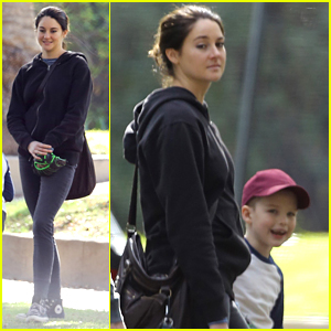 Shailene Woodley Takes Her On-Screen Son To The Park on 'Big Little Lies' Set