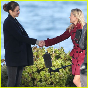 Shailene Woodley & Reese Witherspoon Film Beachside Scene