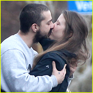 Shia LaBeouf Plants a Kiss on Mia Goth After Lunch Date