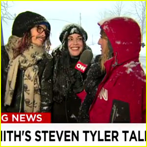Steven Tyler Crashes CNN Snowstorm Broadcast