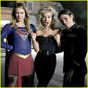 Supergirl's Melissa Benoist & Jenna Dewan Visit 'Grease Live' Set in Full Costume!