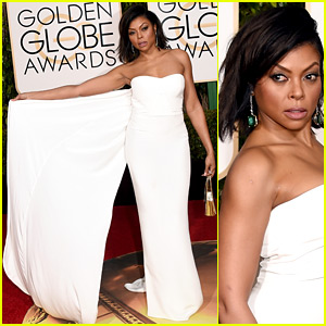 Taraji P. Henson's Golden Globes 2016 Red Carpet Poses Are So Fierce