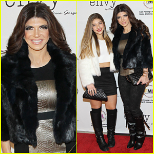 Teresa Giudice Makes First Post-Prison Apperance at Melissa Gorga Boutique Grand Opening!