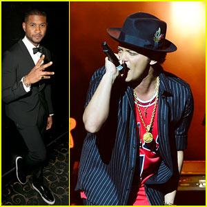 Usher Celebrates New Year's Eve 2016 with Stevie Wonder